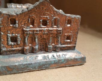 Alamo miniature building model San Antonio copper clad