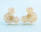 Champagne Mickey Earrings