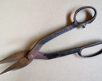 Mid Century Tin Snips Vintage Metal Shears Industrial Collectible Snips/Scissors