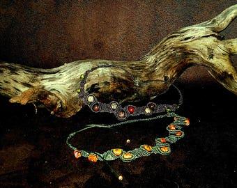 The Choker necklace macrame 'Fall'