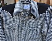 "Vintage Men's Rockmount Western Style Checkered Shirt Size M/L/40"""