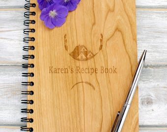 Personalised A5 Wooden Recipe Book - House Design
