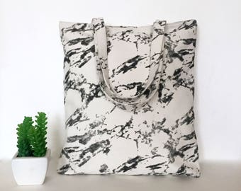 Marble Canvas Tote Bag, Marble Canvas Tote, Minimal Canvas Tote Bag, Canvas bag, School Tote Bag, Marble tote bag, Minimalist bags, Marble