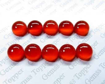 2mm 3mm 4mm Carnelian Cabochon Round - Natural Carnelian AAA Quality Loose Gemstone - Round Carnelian Cabochon - Carnelian Gemstone Cabochon