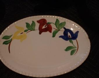 Blue Ridge Pottery 11.5 inch Platter in the Carnival Pattern.
