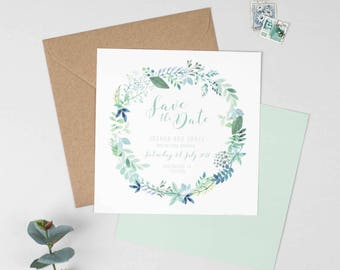 Botanical Wedding Save The Date - Summer Floral Wedding Save The Date - Wedding Stationery - Invitation Suite - Save the Date, RSVP
