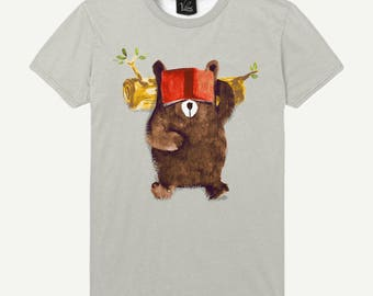 Men's Sleep T-shirt Hibernation Shirt Bear Tee