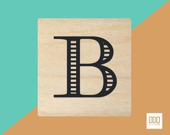 Modern Alphabet-B - 3cm Rubber Stamp (DODRS0156)