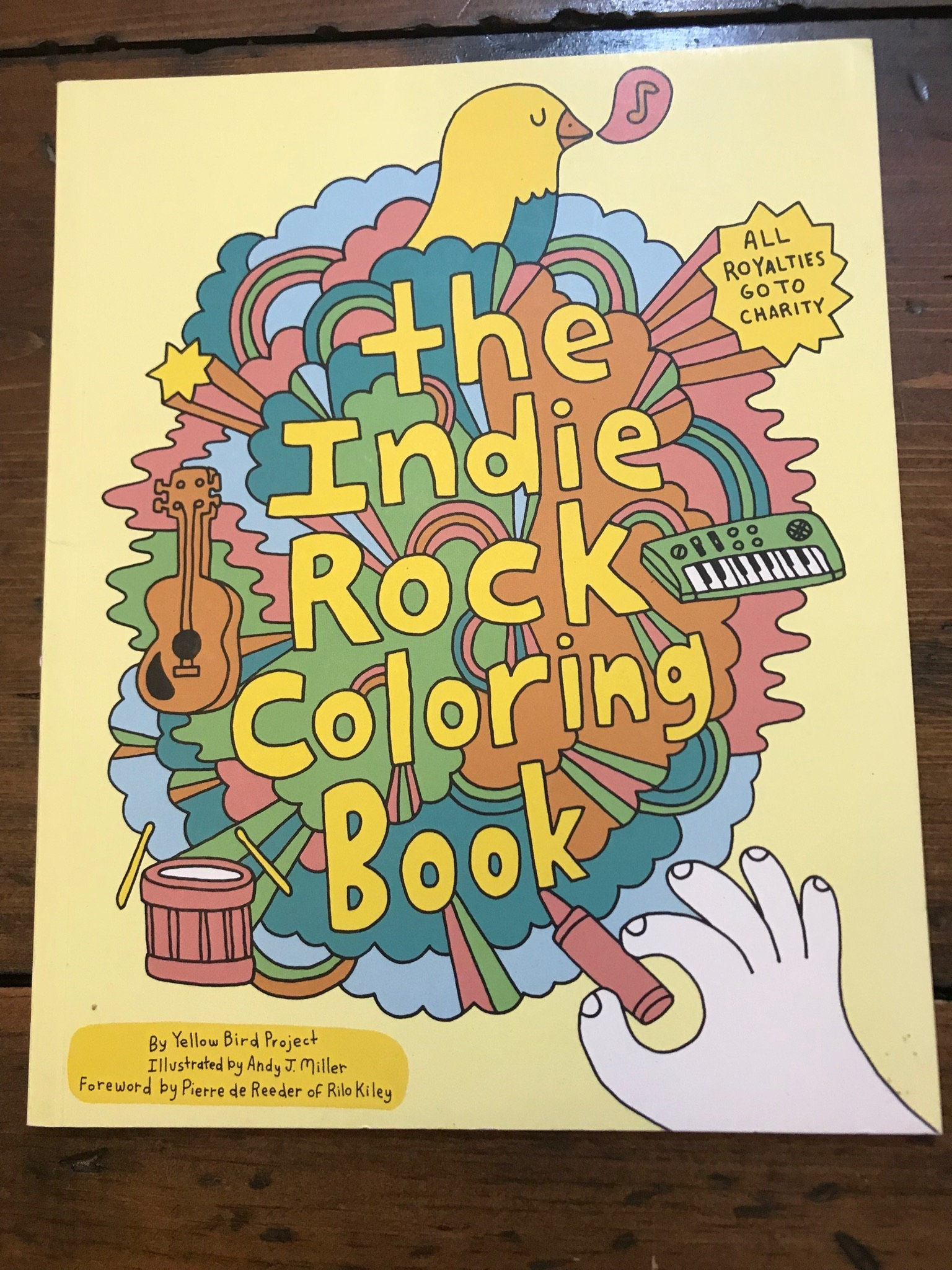 Indie Rock Coloring Book, Yellow Bird Project, Andy J Miller, Rock ...
