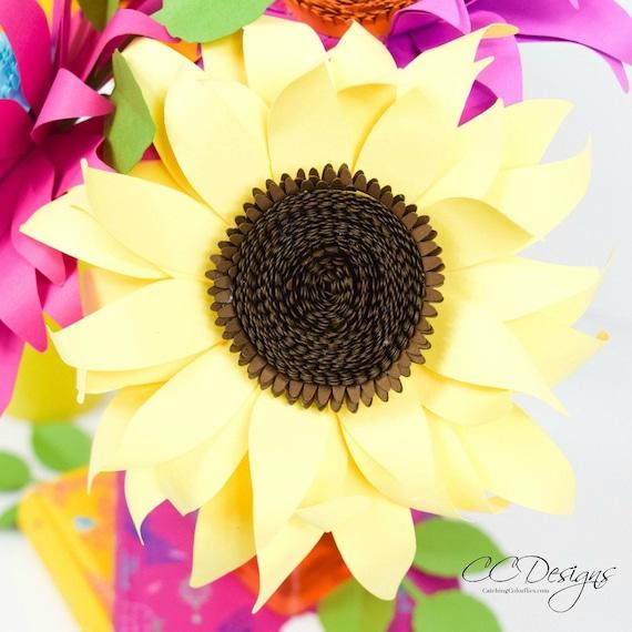 Paper sunflowers paper sunflower templates diy sunflowers il570xn mightylinksfo