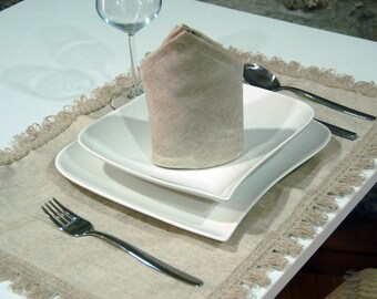 Top Quality Jacquard Linen Table Placemat - Pack of 2 Units