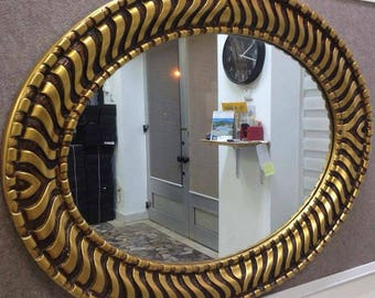 M8 Antique Solid Wood Mirror