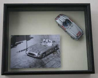 framed Mercedes 300 SLR