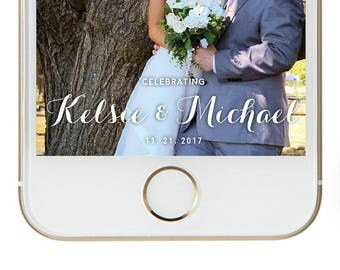 Classic Snap Chat Geofilter for Wedding and Engagement Parties