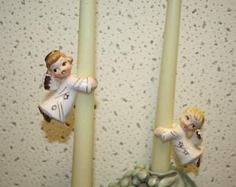 Vintage China Angel Candle Huggers