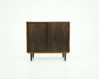 309-067 Danish Mid-Century Modern Rosewood Cabinet Low Credenza Buffet