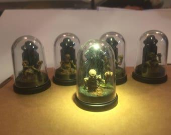 Miniature undead graves