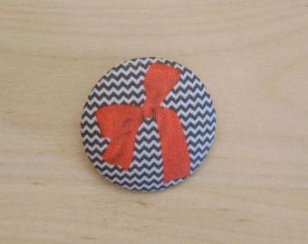 x 1 button 28mm fabric bow ref A38