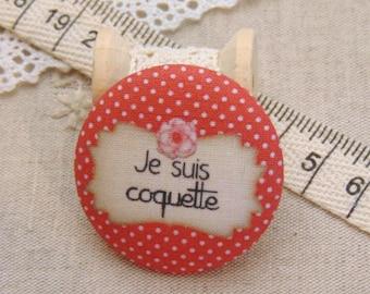I am 1 19mm fabric button x flirtatious ref A7