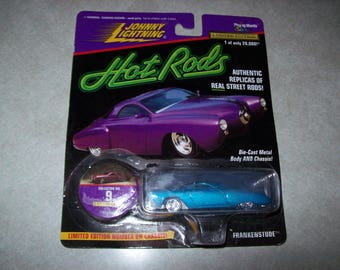 1997 Playing Mantis~Johnny Lightning~Hot Rods~Frankenstude~Authentic Replica of Real Street Rods~Aqua Painted Body~Thom Taylor Designer