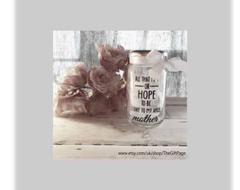 Angel Mother Night light, mood lighting, Memorial jar, Fairy Jar, Glitter Jar, Christmas, light up jars, mason jars