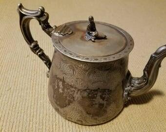 Elkington & Mason Teapot, Dated 1850s