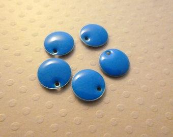 Set of 5 sequins Blue 10mm - BE-0170