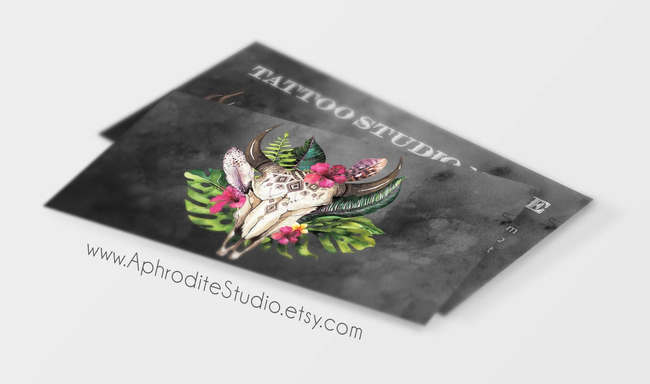 Tattoo business cards skull business cards printable business tattoo business cards skull business cards printable business cards edgy business cards magicingreecefo Choice Image