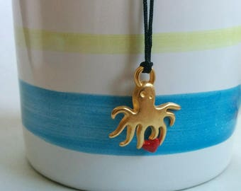 SALE-Octopus. Necklace. Free shipping.