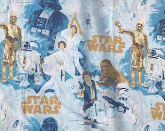 Stars Wars vintage flat sheet fabric