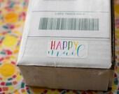 Happy Mail Sticker Sheet - Custom Stickers, Packaging Sticker