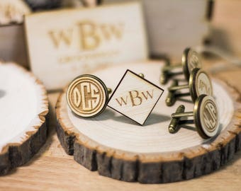 Father Of The Groom Gift Personalized Cufflinks As
