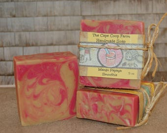 Mango Papaya Smoothie homemade soap