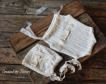 baby romper,Christmas Set, newborn lace, lace romper, new romper, photography prop lace, newborn girl, ready to ship