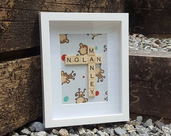 Personalized Scrabble Tile Name Shadowbox