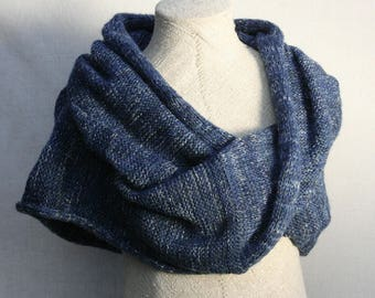 Navy Blue christmas gift / Bridesmaid shawl / Mohair shoulder warmer / Knit oversized scarf / Nursing shawl - Starlight