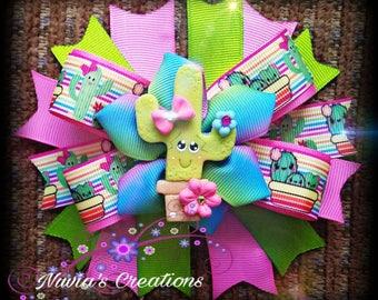 cactus hair bow