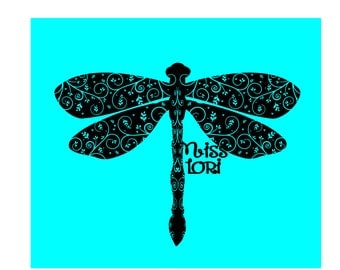 dragonfly flourish   SVG dfx  cut file    animals   canvas SCRAPBOOKINGscrapbook vinyl decal wood sign cricut cameo Commercial use