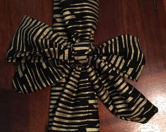 Gold and Black Baby Hairbow