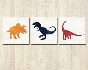 Dinosaur Nursery - Dinosaur Art - Dinosaur Decor - Baby Boy Nursery - Dinosaur Wall Art - Boys Room Decor - Dinosaur Art Print - Dinosaurs
