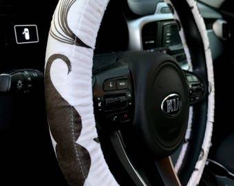 Mustache Steering Wheel Cover