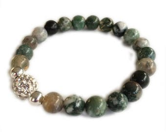 Aquatic Agate Bracelet