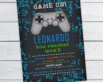 Video Game Invites Etsy - Video game birthday invitation template
