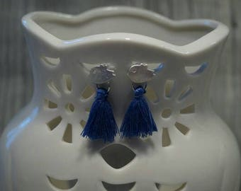 Bird earrings with tassel