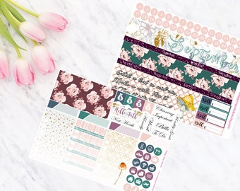 Happy Planner September Monthly Calendar View Planner Stickers