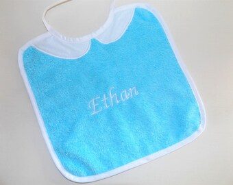 Baby Blue personalized bib