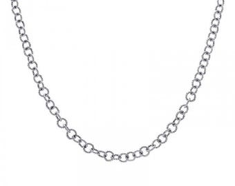 """14K White Gold Brass Cable Link Chain 16"""" Inches 6.0 Grams"""