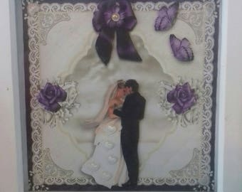 3d framed picture. For wedding gift