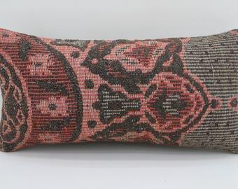 pillows distressed pillow body pillow bed pillows 10x20 turkish pillow lumbar cushion cover vintage kilim pillows throw pillow  SP2550-1639