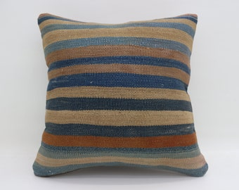 20x20 Kilim Pillow Covers Striped Pillow Large Turkish Kilim Pillow Multicolor Pillow Arrow Pillow Boho Cushion Cover Pillow  SP5050-2789